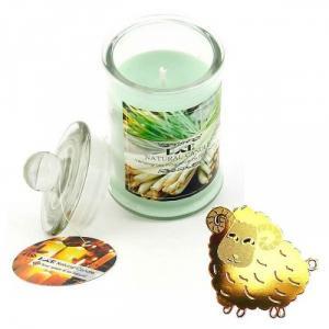 Nến thơm sả chanh tặng miếng dán chắn sóng - Con Cừu (Jar Candles Lemongrass)
