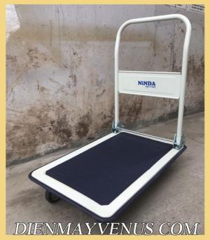 Xe đẩy hàng 4 bánh 150kg Ninda ND-150S sàn thép giá tốt