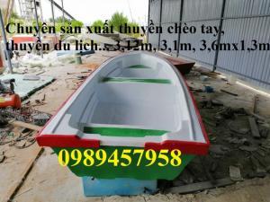 Thuyền composite 3m x 1,3m chở 3-4 người