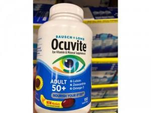 Viên uống bổ mắt Ocuvite Adult 50+ dành cho người trên 50 tuổi 150 viên nang mềm từ Mỹ