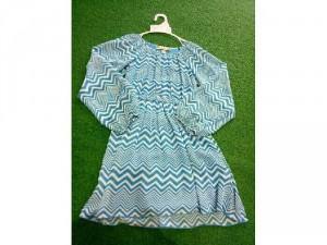 Đầm voan xanh Hàn Quốc