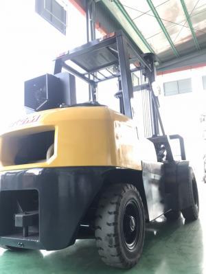 Xe nâng nội địa Nhật 4tấn - Động cơ dầu - Hiệu TCM - Càng xúc lật