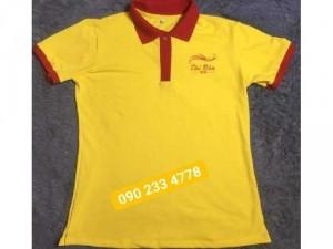 Áo thun đồng phục spa sài gòn màu vàng