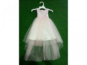 Đầm ren hồng tùng lưới