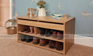 Tủ giày 2 tầng melamine đơn giản