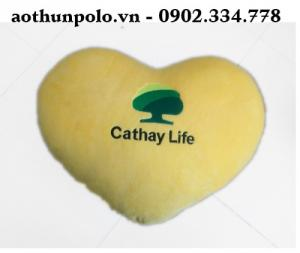 Nhận làm gối trái tim tựa lưng theo yêu cầu , xưởng may gối giá rẽ kích thước 45 x 45 cm giá rẽ
