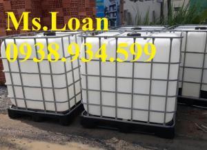 Tank nhựa ibc 1000 lít,tank nhựa 1000 lít đựng hóa chất