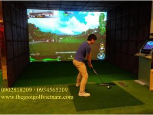 Thiết kế thi công phòng tập golf  3D