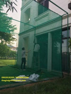 Bộ khung lưới 6m tập swing tại nhà