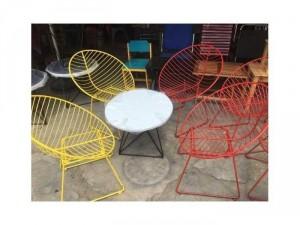 Ghế sắt sơn tĩnh điện nhiều màu sắc
