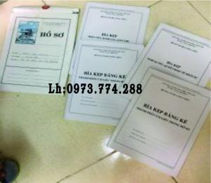 Bán bộ hồ sơ và bìa kẹp viên chức