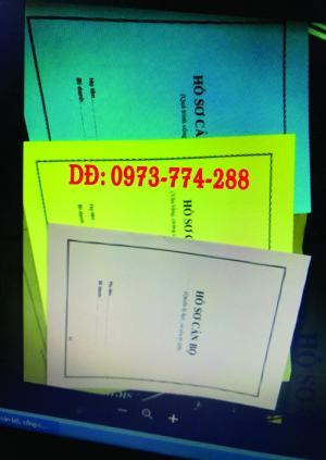 In bìa màu bìa kẹp hồ sơ