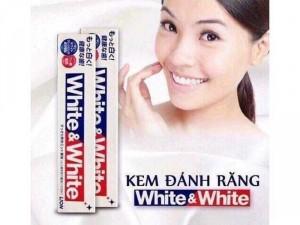 Kem đánh răng Lion White and White Nhật Bản ( Hàng Chính Hãng xách tay )