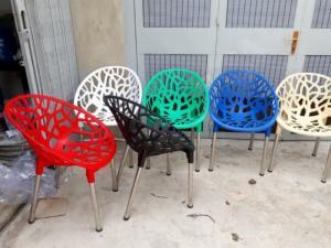 Thanh lý bộ bàn ghế cafe giá rẻ-bộ bàn ghế nhựa chân inox