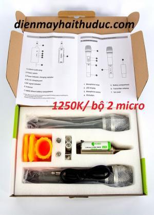 Micro không dây Kiwi-A200 chuyên nâng cấp cho karaoke, loa kéo