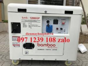 Máy phát điện 10Kw chạy xăng Bamboo BMB 12000 GP,  hàng siêu chống ồn, tiết kiện nhiên liệu