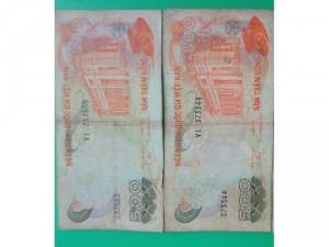 Tiền xưa số seri đẹp giá 150k /tờ.
