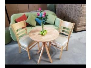 Bộ bàn ghế gỗ bọc niệm cafe giá rẻ