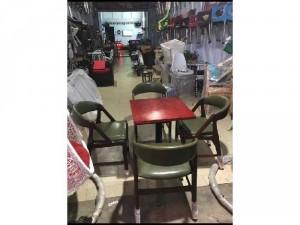 Bộ bàn ghế gỗ bọc niệm cafe