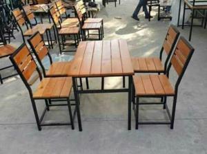 bàn ghế gổ cafe giá rẻ tại xưởng sản xuất HGH 1195