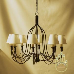 Đèn chùm sắt mỹ thuật đẹp MS01030
