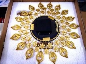 Đồng Hồ Treo Tường Bông Hoa Blue Diamond Kích Thước 38cm