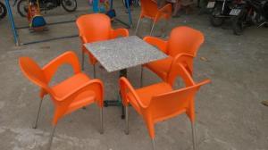 Bàn ghế cafe mây nhựa giá rẻ tại xưởng sản xuất HGH 1208