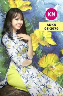 Vải bộ áo dài in đẹp AKN3979 (vải áo và vải quần )