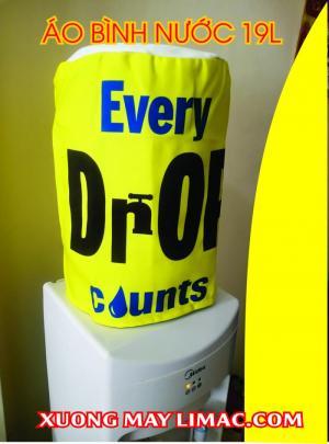 áo trùm bình nước nóng lạnh 21l màu vàng