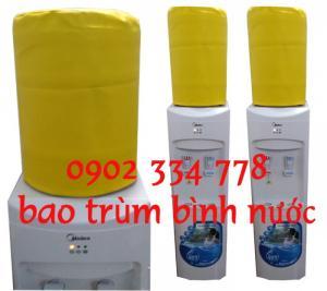 cung cấp sỉ lẻ bao trùm bình nước 21l , cover bình nước 21l nóng lạnh màu vàng
