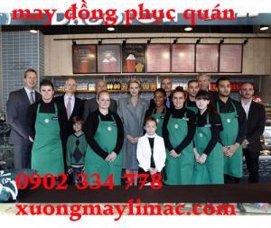 May đồng phục phục vụ - đồng phục quán cafe...