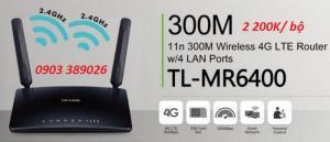 2019-04-29 18:08:08  4 TP-LINK TL-MR6400 Thật dễ dàng tạo ra 1 điểm phát wifi tốc độ cao ở mọi lúc mọi nơi Bộ phát wifi TP-Link TP-MR6400 hỗ trợ sim 3/ 4G LTE 2,200,000