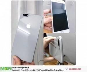 Iphone 6S Plus-32G-Lock-Lên Vỏ iPhone 8Plus.Màu Trắng.Như Mới 99,9%.Chính hãng Apple