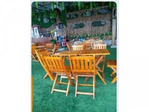 Bộ ghế cafe giá rẻ ghế gỗ xếp