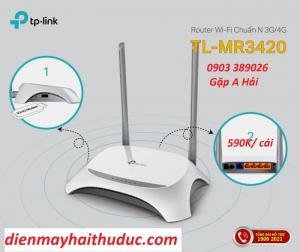 Phát wifi TP-Link TL-MR 3420 hỗ trợ khe USB 3/ 4G tốc độ cao