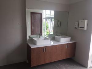 Tủ lavabo treo tường đôi mặt đá gỗ nhưa picomat