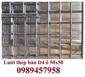 Lưới hàn chập phi 4 ô 50x50 khổ 2mx4m có sẵn