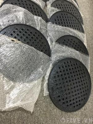 Vỉ nướng chống dính bếp âm bàn vỉ gang dạng lưới kiểu Hàn Quốc