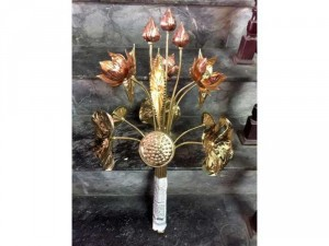 Hoa sen thờ cúng bằng đồng nguyên chất