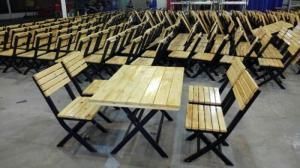 bàn ghế gổ cafe giá rẻ tại xưởng sản xuất HGH 1265