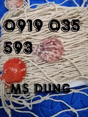 Lưới trang trí kèm vỏ sò lưới trang trí trần tường theo phong cách biển