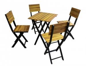 bàn ghế gổ cafe giá rẻ tại xưởng sản xuất HGH 1277