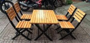 bàn ghế gổ cafe giá rẻ tại xưởng sản xuất HGH 1278