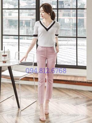 Xưởng may đồng phục quần tây nữ công sở cao cấp, chất lượng