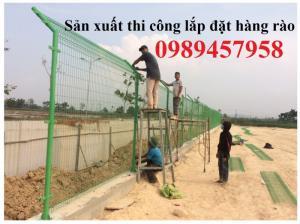 Lưới hàng rào sơn tĩnh điện phi 5 ô 50x150 tại công trình
