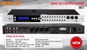 Vang Số Cơ Karaoke BOSA W7 Model 2019, Echo 3D, Chống Hú,Bluetooth