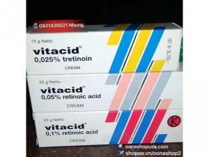 Kem Retin A 0.025% (Tretinoin 0.025%)- Kem Vitacid Retinoic Acid 0.025%