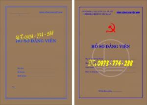In ấn các loại túi hồ sơ đảng viên, quyển lý lịch xin vào đảng, quyển lý lịch đảng viên, các mẫu mới, cũ