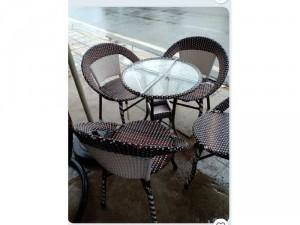 Bộ ghế mây giả nhựa cafe giá rẻ