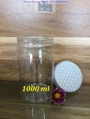 Hũ nhựa PET nắp nhôm, hũ nắp nhựa đựng thực phẩm - Chất lượng cao, giá rẻ